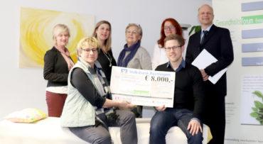 8000 Euro Spende an das Gesundheitsforum