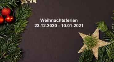 Wir haben ab 23.12.2020 bis 10.01.2021 geschlossen